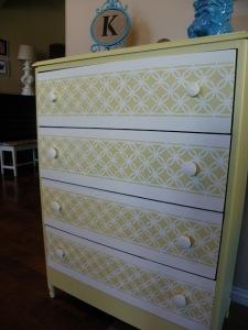 DIY Stenciled Dresser