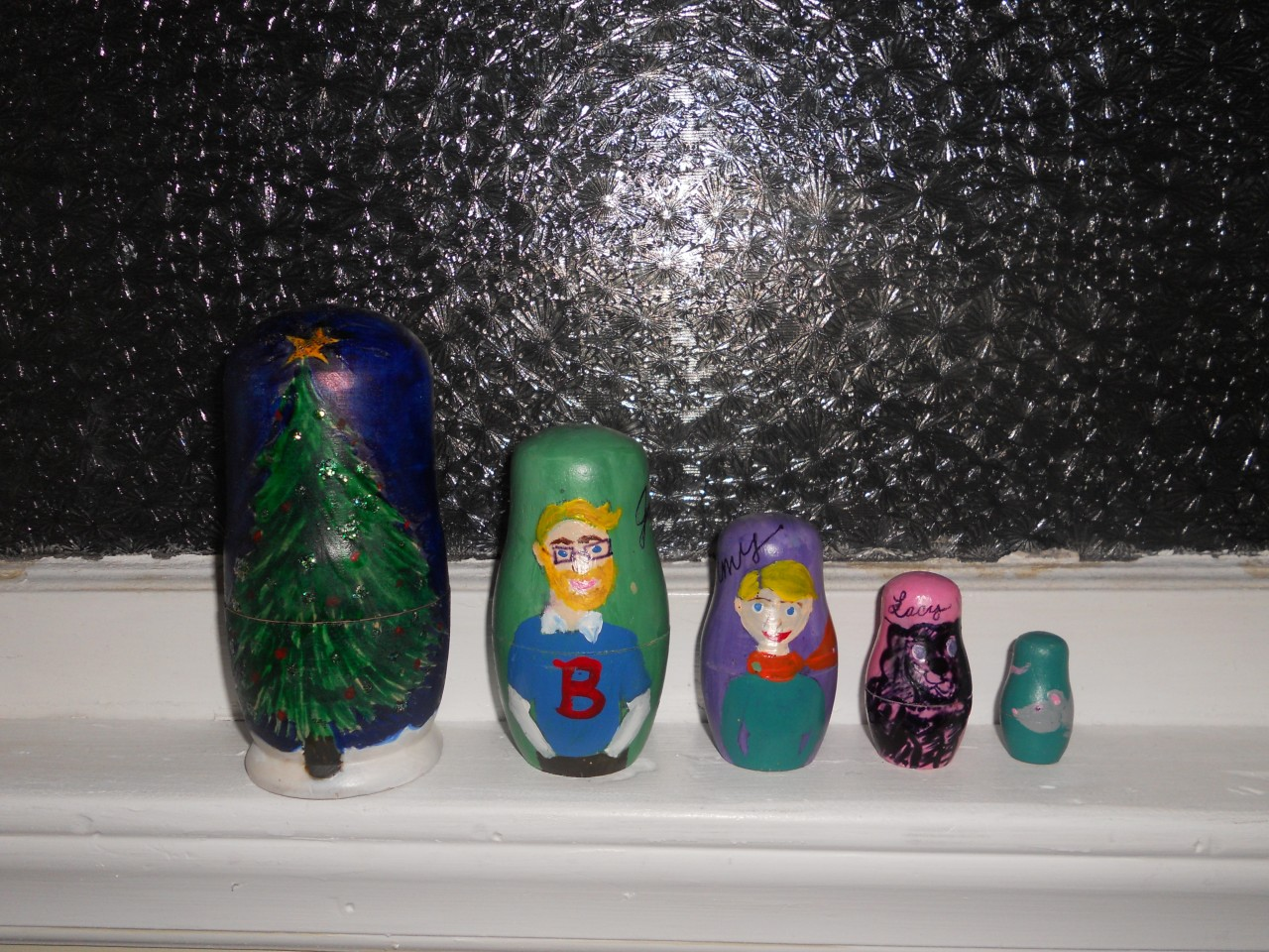 homemade christmas nesting dolls