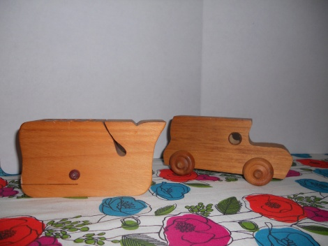 Wooden Toy Pencil Holder