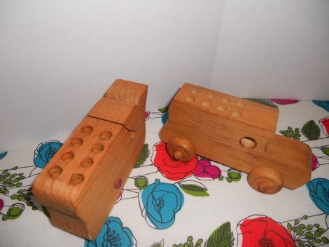 Wooden Toy Pencil Holders