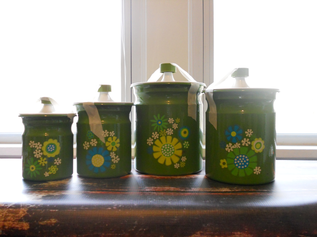 vintage canisters (3)