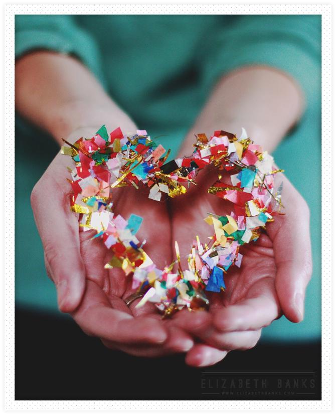 confetti wreath