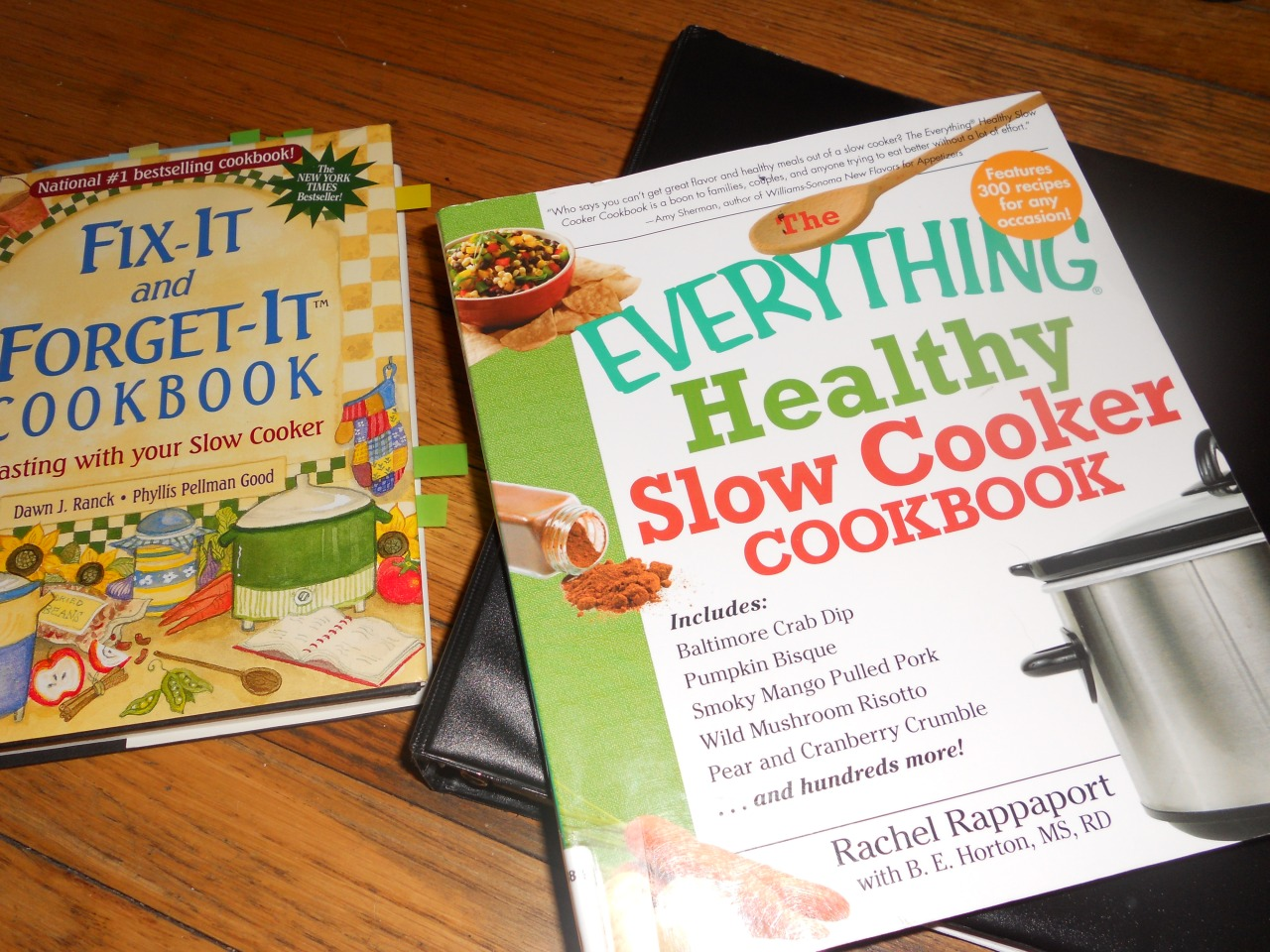 cookbooks and recipe binder