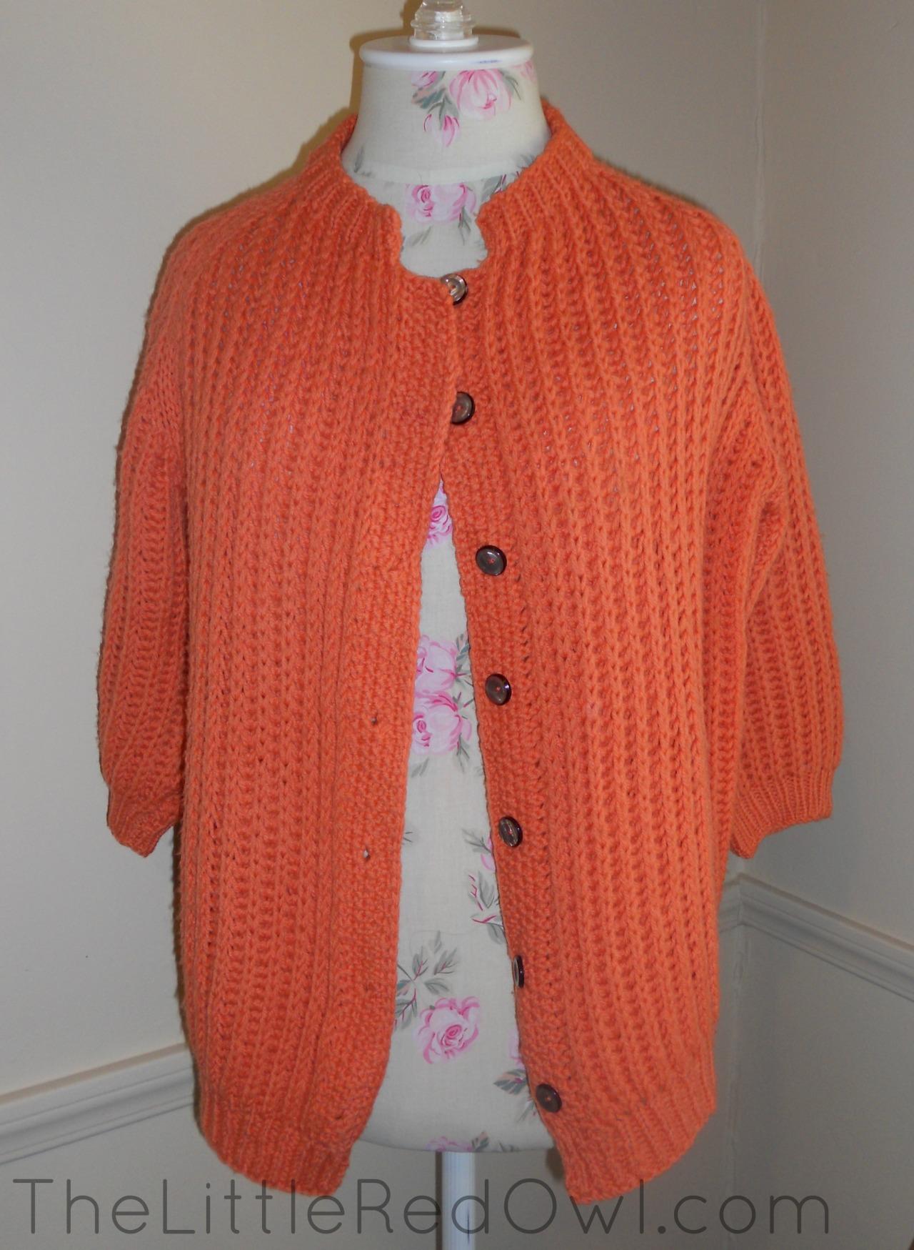 orange cardigan blog