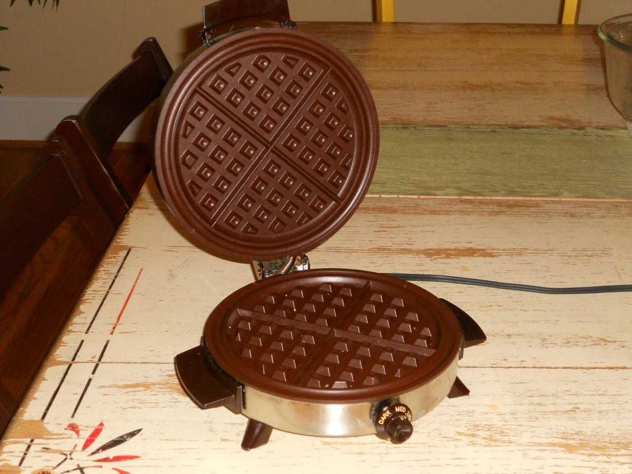 open waffle maker