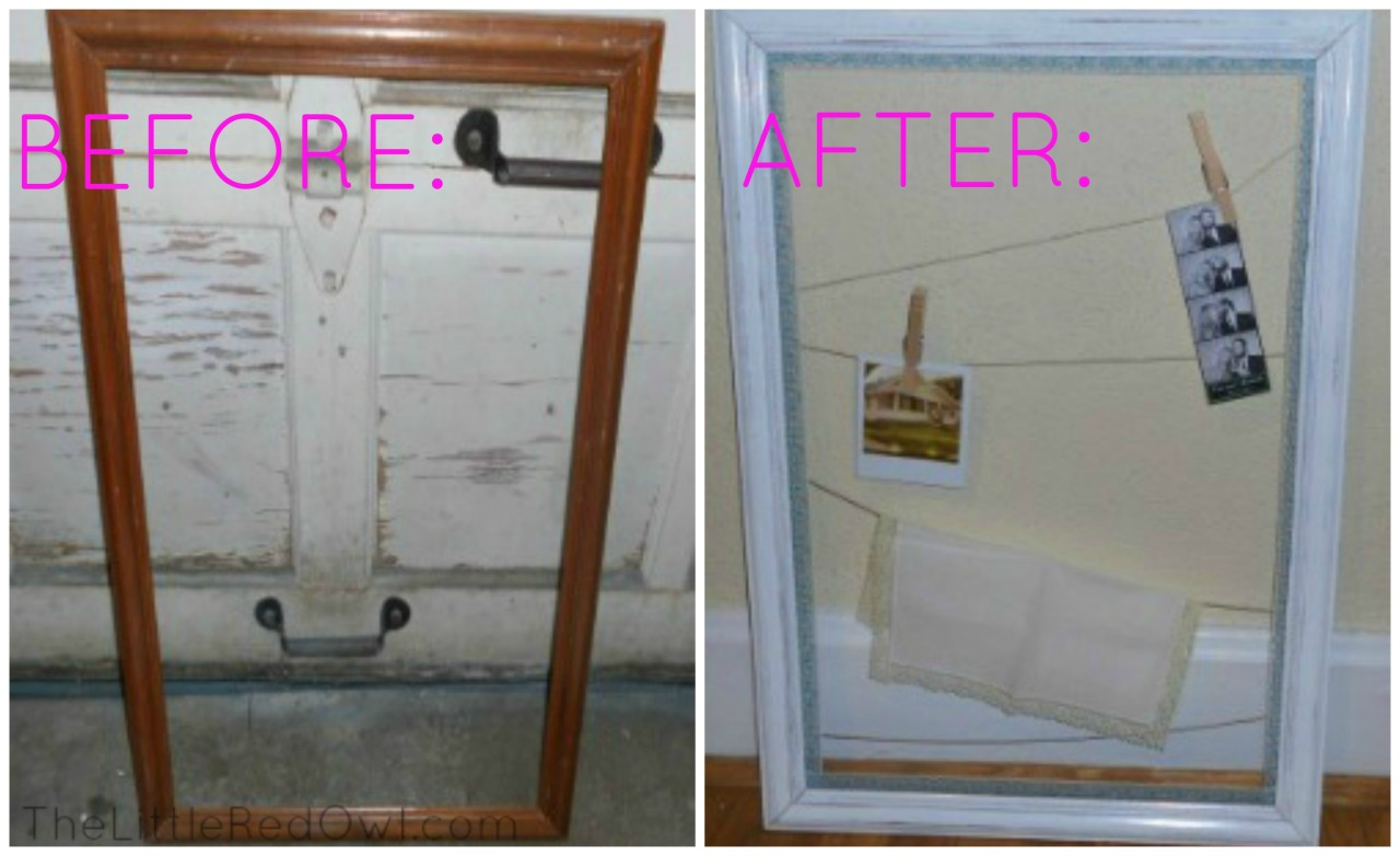 Easy DIY stringed frame art display