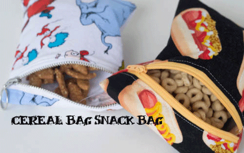 cereal bag reusable snack bag