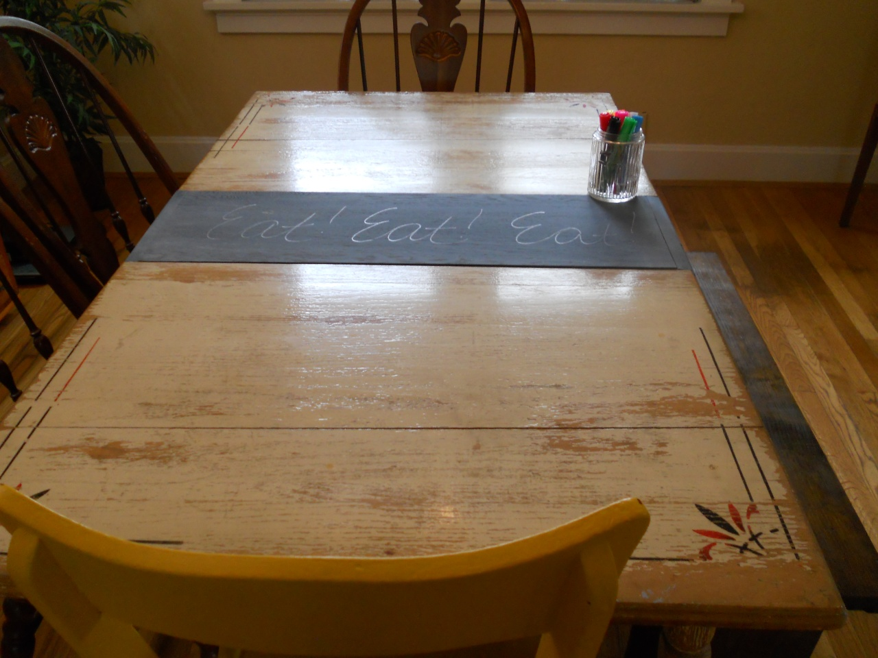 chalkdboard table