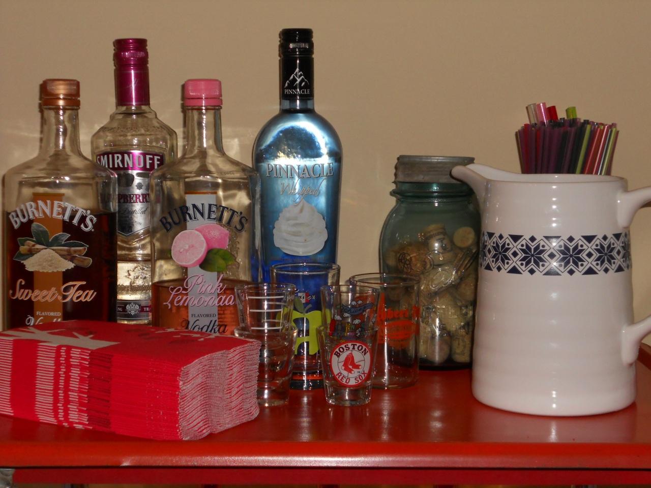 top shelf bar cart