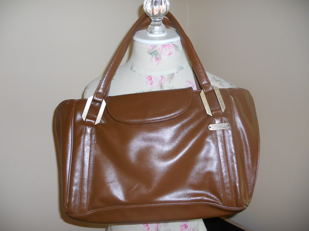 brown vintage purse