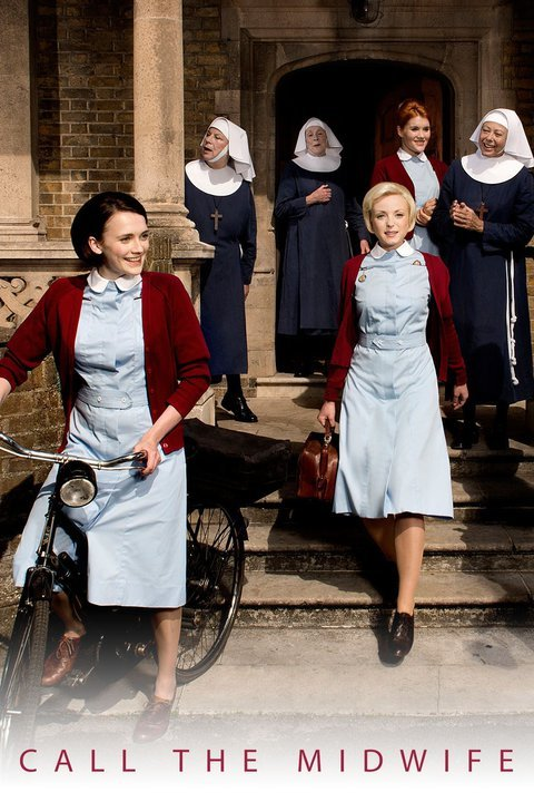WARNING: Embargoed for publication until: 06/01/2015 - Programme Name: Call The Midwife 4 - TX: n/a - Episode: n/a (No. 1) - Picture Shows: ++Publication of this image is embargoed until 00.01 hours Tuesday January 6th 2015++ Nurse Trixie Franklin (HELEN GEORGE), Nurse Patsy Mount (EMERALD FENNELL), Sister Julienne (JENNY AGUTTER), Shelagh (LAURA MAIN), Sister Monica Joan (JUDY PARFITT), Sister Evangelina (PAM FERRIS), Nurse Barbara Gilbert (CHARLOTTE RITCHIE) - (C) Neal Street Productions - Photographer: Des Willie
