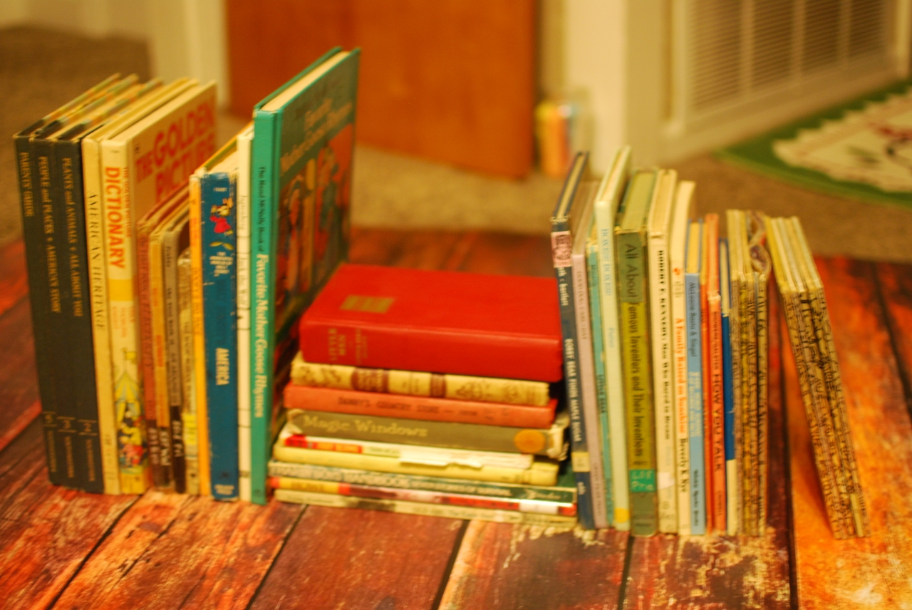 vintage children book collection